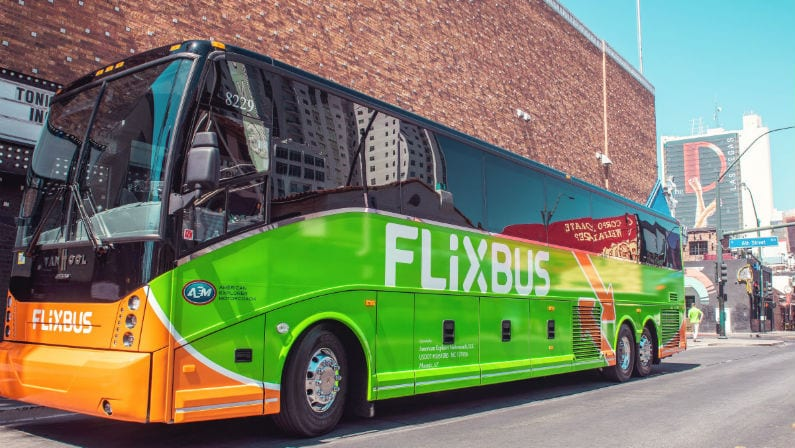 FlixBus Offers Green Buses and $5 Fares Between DFW and Major Texas Cities