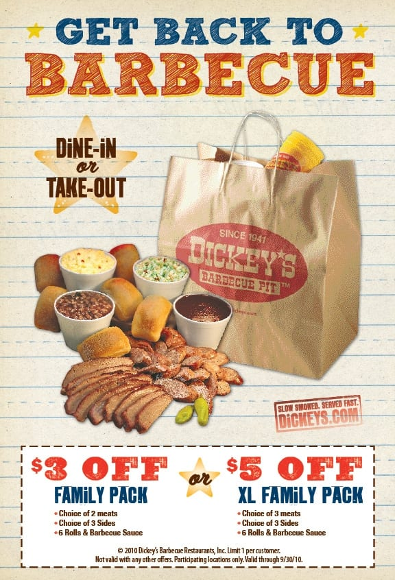 Dickeys bbq coupon 2018
