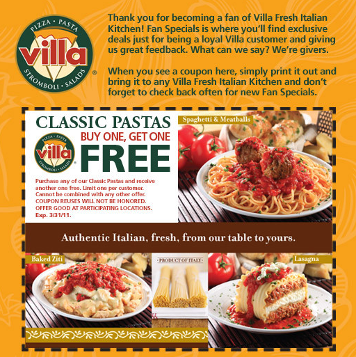 Fort Worth on the Cheap Villa Fresh Italian Kitchen coupons