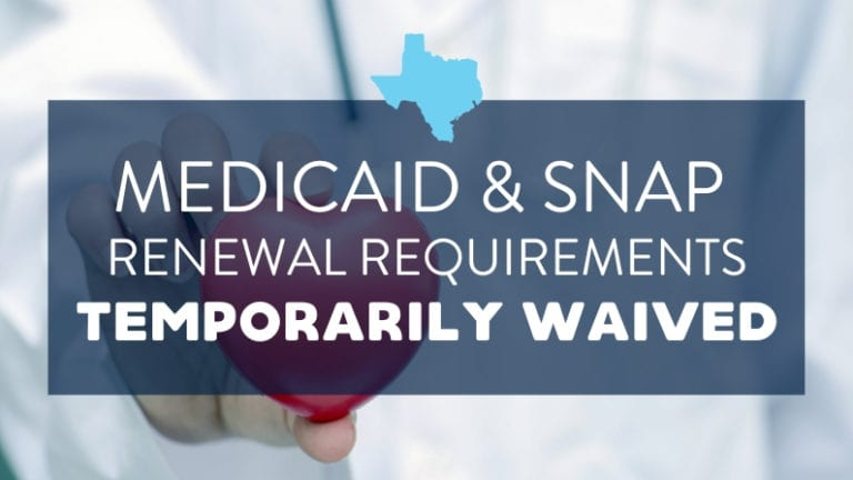 snap medicaid waived texas